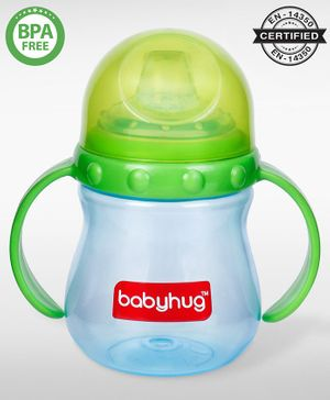 Babyhug Sipper Cup With Twin Handles Green - 240 ml