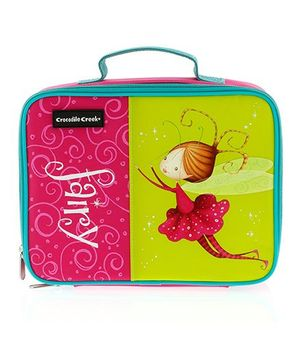Crocodile Creek Insulated Classic Lunch Box Fairy Print - Pink Green