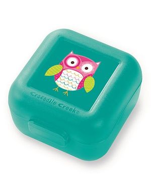 Crocodile Creek Sandwich Keeper Owl Print Set of 2 - Green