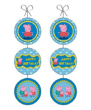 Peppa Pig Danglers - Pack Of 6