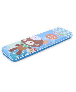 Nice Day Print Pencil Box - Blue