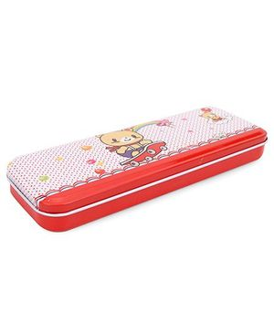Love Love Pop Print Pencil Box - Red