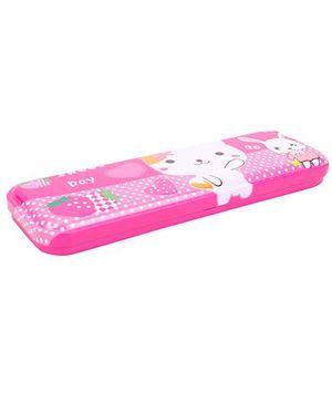 Sweet Day Print Pencil Box - Pink