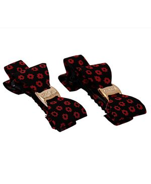 Yashasvi Hair Clip Bow Style - Red And Blue
