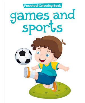 Preschool Coloring Book Games And Sports - English