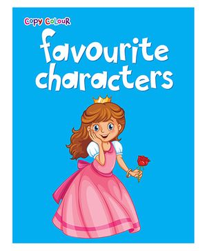 Copy Colour Favourite Characters - Blue