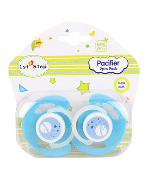 1st Step Baby Pacifiers Pack Of 2 - Blue
