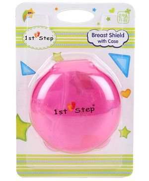 1st Step Breast Shield With Case - Pink