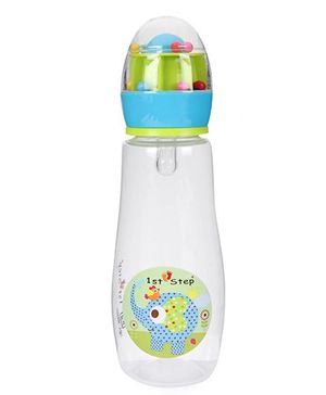 1st Step Feeding Bottle Elephant Print Blue - 300 ml