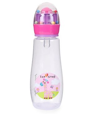 1st Step Feeding Bottle Giraffe Print Pink - 300 ml