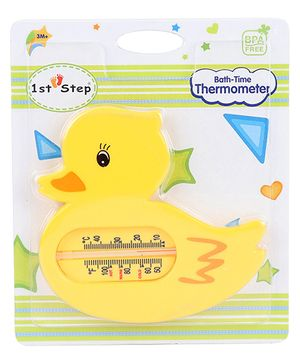 1st Step Duck Shaped Bath Time Thermometer - Yellow