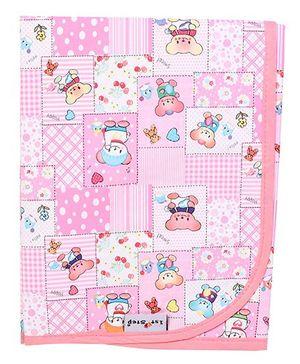 1 Step Waterproof Bed Protector Sheet Teddy Print - Pink