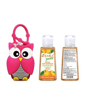 Zuci Junior Hand Sanitizer And Owl Bag Tag - 30 ml (Flavours May Vary)