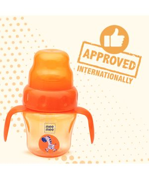 Mee Mee 2 in 1 Spout & Straw Sipper Cup Orange - 150 ml