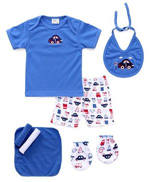 Mee Mee Baby Gift Set Round Blue - 7 Pieces
