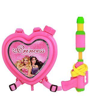DealBindaas Water Gun With Back Pack Tank Disney Princess - Pink (Colors May Vary)