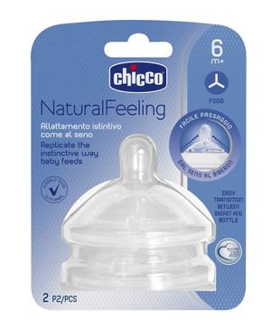 Chicco Teat Naturalfeeling - 2 Pieces