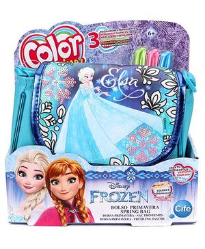 Disney Frozen CMM Sequin Deluxe Spring Bag - Blue