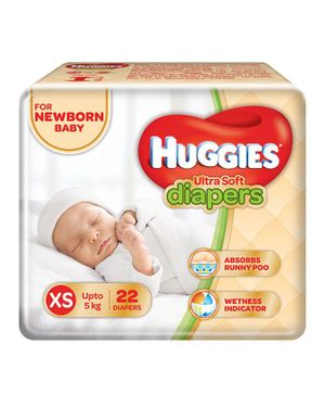 Huggies Ultra Soft Premium Diapers For New Baby- 22 Pieces