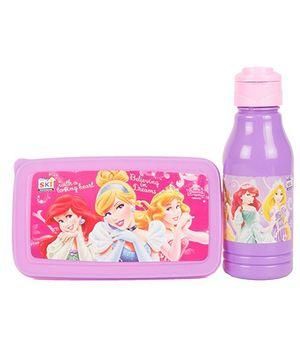 Disney Princess Back To School Lunchbox Set - Pink And Purple
