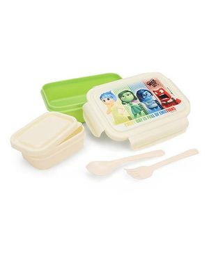 Disney Inside Out Printed Lunch Box - Cream & Green