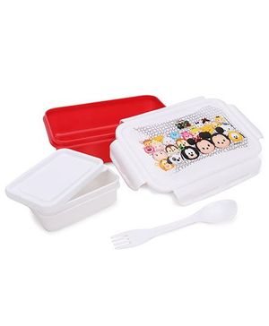 Disney Lunch Box - White And Red