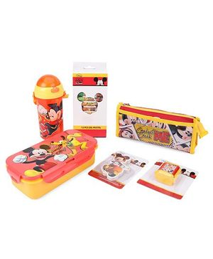 Disney Mickey Mouse School Kit - Red And Yellow