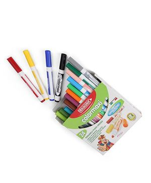 Fibracolor Color Maxi Fine Nib Sketch Pens With Washable Ink - Pack of 24
