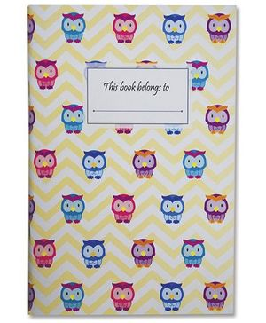Little Jamun Owls Cover A5 Single Note Book - Yellow
