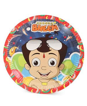 Chhota Bheem Paper Plate Pack Of 10 - Multicolor
