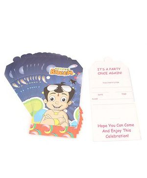 Chhota Bheem Invitation Cards - Blue