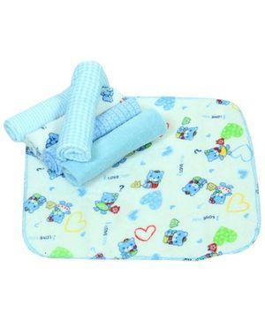 Baby Hug Colorful Wash Cloths - Set of 6