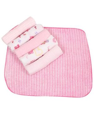 Baby Hug Colorful Wash Cloths - Set of 6