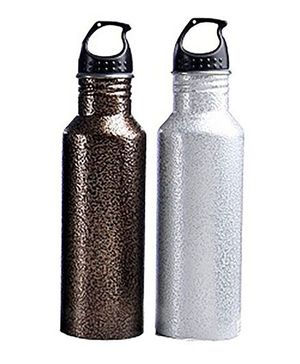 Pexpo Antique Water Bottle Pack of 2 Copper & White - 750 ml each