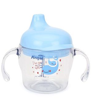Angel Stony Twin Handle Cup Clear 160 ml Blue