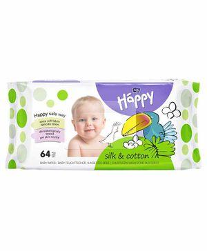 Bella Baby Wet Wipes Silk N Cotton - 64 Pieces