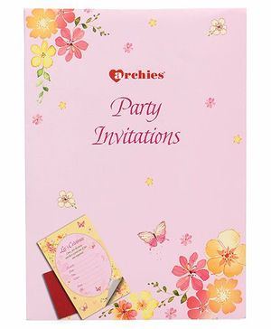 Archies Party Invitation Cards - Pink