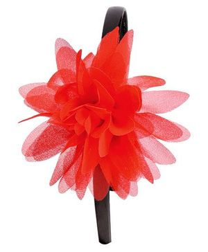 Miss Diva Classy Flower Soft Hairband - Red
