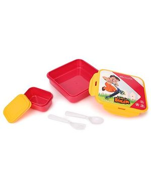 Chhota Bheem Sandwich Box - Yellow Pink