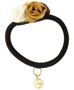 Funkrafts Flower Ponytail Holder - Golden