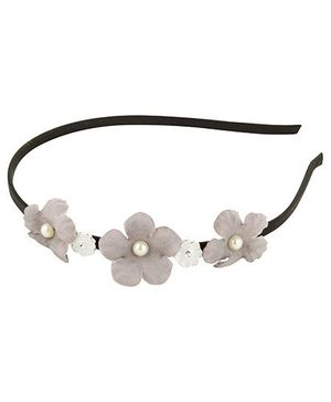 Funkrafts Flower Hair Band - Grey