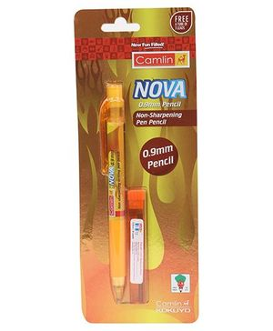Kokuyo Camlin Nova Mechanical Pencil Blister Pack - Yellow