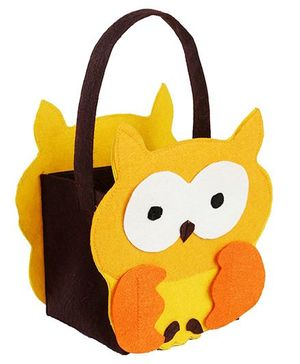 My First Booth Candy Bag Owl Design - Yellow
