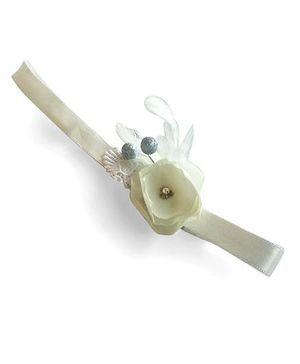 Soulfulsaai Baby Flower Headband - Off White