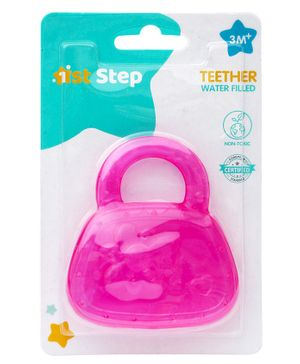 1st Step Water Filled Teether In Bag Design - Pink