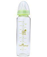 1st Step Glass Feeding Bottle Green - 240 ml