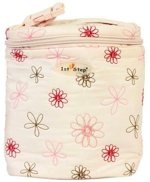 1st Step Thermal Bottle Cover Floral Embroidery - (Color May Vary)