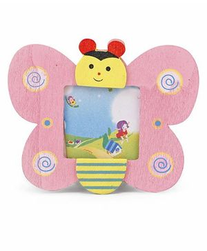 Butterfly Shape Photo Frame - Pink