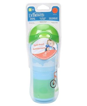 Dr. Brown's On The Go Insulated Straw Sport Cup Stage 5 - Blue & Green