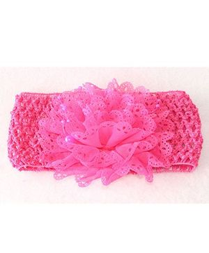 Tia Hair Accessories Pearl Embellished Board Headband - Pink